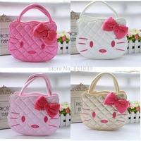 2014 Fashion Girls'  Leather Handbag Hello Kitty One Shoulder Bags Bowknot Hello Kitty Totes Wholesale