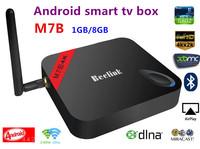 M7B Amlogic S802 Quad Core android smart TV Box  Android 4.4 1G/8G  WiFi 4Kx2K HDMI XBMC  bluetooth smart TV free shipping