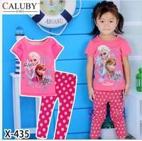 X-435 new children's children's pajamas pajamas clothes sleeve cotton cartoon baby pajamas girl boy suit set