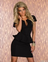 Direct production house direct lotus lace V-neck waist dress sexy dress | clubwear dresses | sexy underwear free delivery