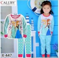 X-447 new children's children's pajamas pajamas clothes sleeve cotton cartoon baby pajamas girl boy suit set