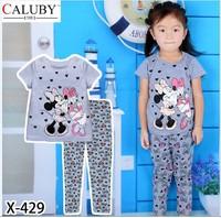 X-429 new children's children's pajamas pajamas clothes sleeve cotton cartoon baby pajamas girl boy suit set