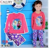 X-440 new children's children's pajamas pajamas clothes sleeve cotton cartoon baby pajamas girl boy suit set