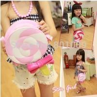 2014 Girls fashion portable child female child princess multicolour lollipop bag bow shoulder bag messenger bag