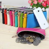 Small Zipper Coin Purse Women Candy Colors Fashion Female Zipper Wallet Cute Leather Coin purses Ladies Money Bag Cute Girls Bag