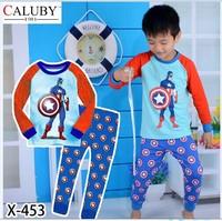 X-453 new children's children's pajamas pajamas clothes sleeve cotton cartoon baby pajamas girl boy suit set