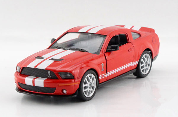 Free shipping Kinsmart 1:38 FORD GT 500 cobra Alloy model toys Leap to jump Children like the gift(China (Mainland))