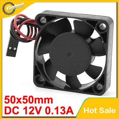 DC 12V 0.13A PC Computer CPU Heat Sink Heatsink Cooling Fan 50x50mm(China (Mainland))