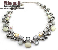 [Mix 15USD] Brand New Fashion Jewelry Rhinestone Leaves Statement Necklaces Bib Vintage Choker Necklace For Women Gifts