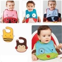 SKP Zoo Baby Bibs Cartoon Animals Design Waterproof Infant Lunch Bib Toddlers Boys Girls Saliva Towel 0-3 Years Free Drop Ship