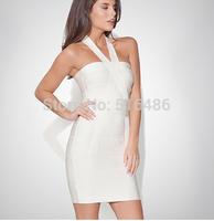 2014 Women's Summer dress Super Sexy Club Party Dresses Evening Night club cross neck halter bodycon backless Dress