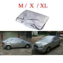 Universal Waterproof Half Car Covers Styling Prevent PVC Snow Resistant Coating Breathable UV Protection Outdoor Indoor Shield(China (Mainland))