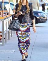 Women Summer Maxi dress 2014 Fashion Geometric Sleeveless Bodycon Tribal Stripe Soft Maxi Casual Dress B4756
