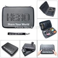 New Arrive Waterproof  Portable Case For SJ4000 Gorpo Bag Box PU Protection For SJ4000 Go Pro Hero /2/3/3+ Size 32*22*7CM
