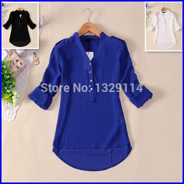 Womens Bright Blue Blouse 22