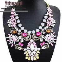 [Mix 15USD]High Quality Hot Full Rhinestone Crystal Materials Shinny Choker jewelry Chunky Statement Necklace Luxury Women 2014