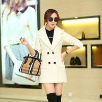Early autumn coat female fashion hot solid loose cloak type all-match coat lapel
