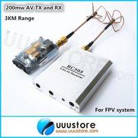 Boscam FPV 5.8G 5.8Ghz 200mw Wireless AV Transmitter and Receiver with clover antenna for RC MultiCopter DJI Phantom 3KM range