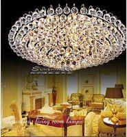 Luxury K9 Crystal  Led Ceiling Lamp Modern Minimalist  Round Crystal Continental Bedroom Lamp Living Room Ceiling Light ds-022