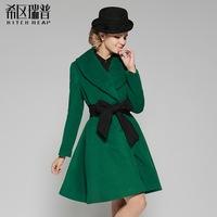 High quality elegant reppe skirt wool cashmere overcoat fashion weman