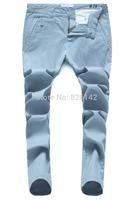 2014 New Men Jeans Cotton Denim Casual Trousers Slim Jeans Fashion Men  Free Shippping