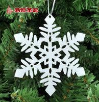 Christmas decorations 10*10cm Snowflake Christmas Tree Ornament Free Shipping