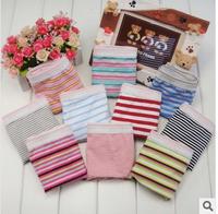 women shorts Striped cotton ladies panties multi color lady underwear  5pcs/lot , free shipping