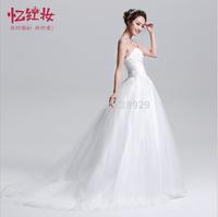 The wedding dress new Korean Princess Bride small trailing white bra straps wedding H13013