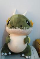 45cm Hot Sale Cute Anime Figure Green Dinosaur Plush Toy Soft Stuffed Animal Doll For Girl Boy Birthday Gift Brinquedo Menino