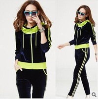 2014 pleuche suits Han edition sports leisure suit color hooded cultivate one's morality CY026