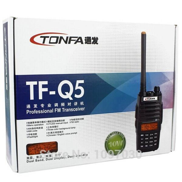 NEW Walkie Talkie TONFA TF Q5 VHF UHF 136 174 400 480MHz 256CH 10W Two Way