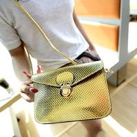 2014 clad cover type small bag mobile phone coin purse messenger women's bags shining summer ladies bolsas femininas clutch