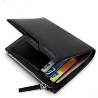 New fashion 100% genuine leather men wallet short brand high quality men's wallet black coffee male wallets card holder L-01