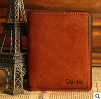 Vintage men wallet genuine leather high quality brand designer male wallet men casual short multi-card holder  L-02