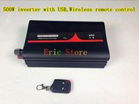 Hot selling!500W DC12V/24V/48V AC100W-120V/AC220V-240V off-grid,pure sine wave  with USB&Wireless remote control (CTP-500W-WS)
