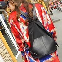 2014 new preppy fashion Guaranteed Quality Black women kpop PU tactical mochila