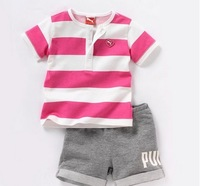 Children's sports wear summer clothing tshirt+shorts,China Post Air Mail free shipping