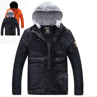 Winter jacket  men camping & hiking down jacket for men blue polyester men sportwear plus size S-XXL,free shipping