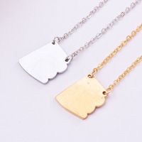 Valentine Day Gift Free Shipping stainless steel Arizona Necklace silver chain map fashion jewelry