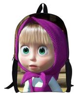 Wholesale Masha and Bear cartoon pattern school backpacks children school bags girls boys kids backpack children backpacks