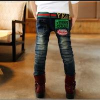 New 2014 Winter trousers Boys Jeans Brand Kids Clothing Children Denim Pants Wholesale