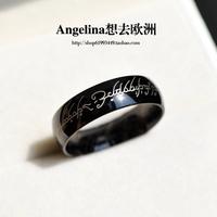 FREE SHIPPING~New Titanium Jewelry Black Secret Punk Style Unisex Ring