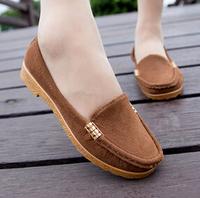 2014 Women shoes slip on Autumn fashion shoes flat heel Moccasins maternity women's flats casual shoes