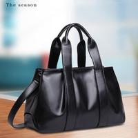 High Quality Genuine Leather Bags Women Leather Handbags Designers Brand Cowhide Bag Vintage Fashion Shoulder Bags Satchel