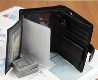 12 Slot New 2014 business men leather short small solid wallets coin pocket designer purse carteira masculina billetera hombre 5