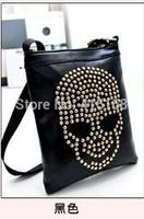 7 colors Messenger Bag 2014 new Korean female bag purse skull mini shoulder bag phone bag diagonal package rivet packet