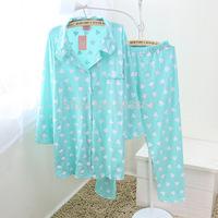Autumn summer new  long-sleeved pants leisurewear cotton cardigan two-piece suit women pajamas