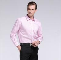 2014 new Men's shirts Brand long sleeve striped plaid dress shirt men Easy care autumn clothing button down shirts for man S-4XL