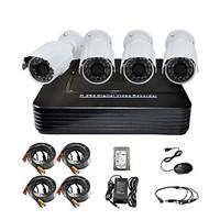 P2P HDMI 500GB 4-CH H.264 DVR + 4x700TVL Weatherproof IR Camera CCTV Security System