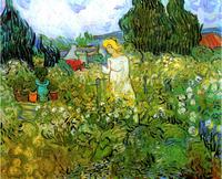 Original(Van gogh) Art print reproduction on canvas wall decor the garden of Margaret